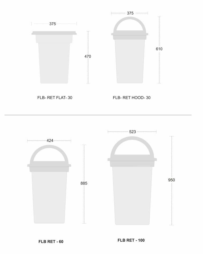 FLB - RET - Outdoor Bins