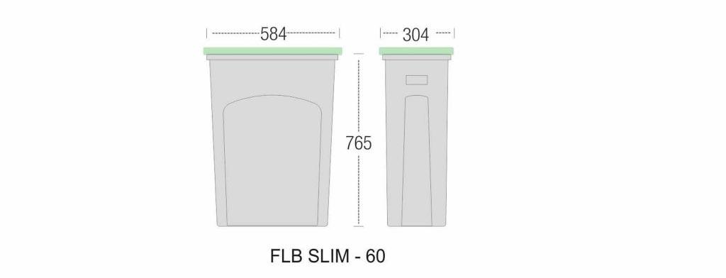 SLIM outdoor BINS