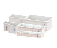 Open Top Rectangular PP Containers