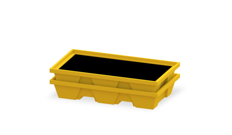 Spill Safe Stackable Container full