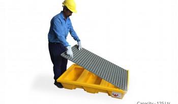 Spill Safe Heavy Pallet full